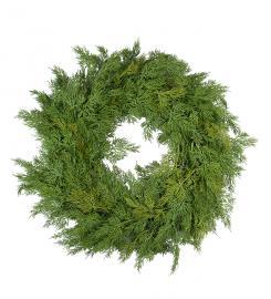 Kunstig Cypresskrans 55 cm , hemmetshjarta.no