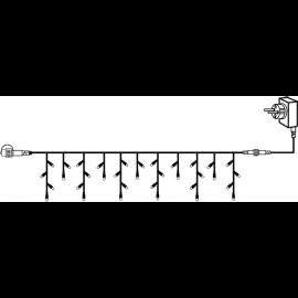 Utendørsdekorasjon System 24V Istapp lenke Start Varmhvit 300x40cm , hemmetshjarta.no