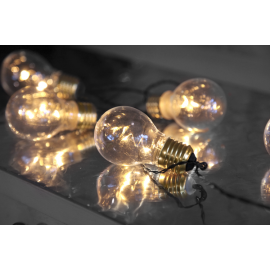 Lyslenke Batteridrevet Glow Utendørs Gul 5 Lys 100cm , hemmetshjarta.no