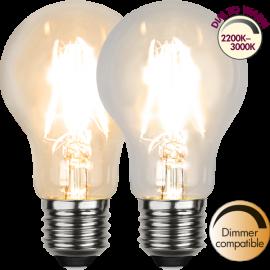 LED-Lampe E27 Ø60 Dim To Warm lm320/30w Clear , hemmetshjarta.no