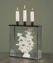 Glassboks med lysestake Burn 22x7x25cm , hemmetshjarta.no