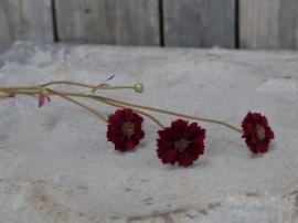 Fleur Blomst H57 cm vinröd , hemmetshjarta.no