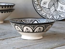 Marrakech skål håndmalt H8 / Ø20 cm svart , hemmetshjarta.no