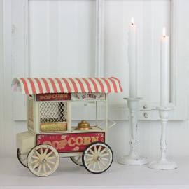 Dekoration Popcornvogn krem 24 cm , hemmetshjarta.no