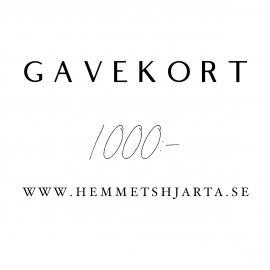 Gavekort - 1000:- nok , hemmetshjarta.no