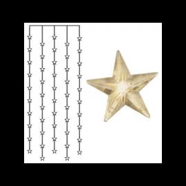 Dekorasjonslenke EL Lysgardin Star Varmhvit 50 Lys 90x200cm , hemmetshjarta.no