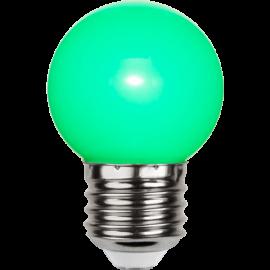 LED-Lampe E27 Outdoor Lighting G45 Grønn , hemmetshjarta.no