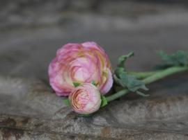 Fleur Ranunkel H40 cm rosa , hemmetshjarta.no