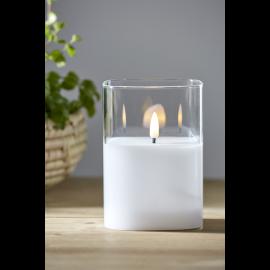 LED Blokklys Flamme Gjennomsiktig , hemmetshjarta.no