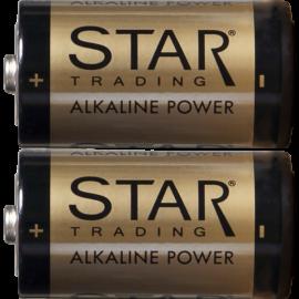 Batteri C 1,5V Power Alkaline 2-pack , hemmetshjarta.no