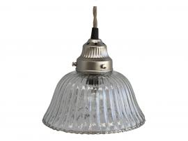 Uke 40 Lampe med spor glass håndlaget H17 / Ø17 cm klar , hemmetshjarta.no