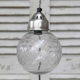 Lampe Kule med sliping Ø15 cm , hemmetshjarta.no