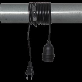 Lampeholder E27 Basic Svart 3,5m , hemmetshjarta.no