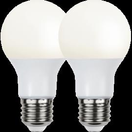 LED-Lampe E27 Ø60 lm470/40w Frostet Basic 2-pakning , hemmetshjarta.no