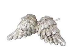Englevinger/Stick Sølv Poly 8cm 2-pakning , hemmetshjarta.no