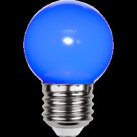 LED-Lampe E27 Outdoor Lighting G45 Blå , hemmetshjarta.no