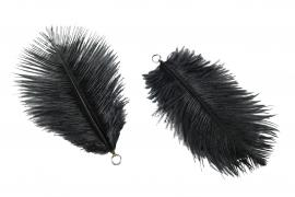 Fjær / Heng Soft Black 10cm 6stk , hemmetshjarta.no