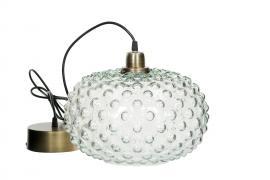 Lampe Globe Stort Glass 30x23cm , hemmetshjarta.no