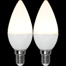 LED-Lampe E14 Ø37 lm250/25w Frostet Basic 2-pakning , hemmetshjarta.no