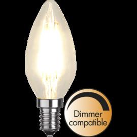 LED-Lampe E14 Ø35 Dim lm420/37w Clear , hemmetshjarta.no