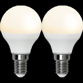 LED-Lampe E14 Ø45 lm250/25w Frostet Basic 2-pakning , hemmetshjarta.no