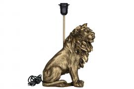 U. 9 Lampe Løve Poly Mørk gull 25x32 / 42cm , hemmetshjarta.no