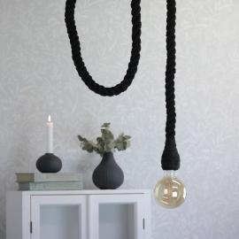 Lampe tau/rep - svart , hemmetshjarta.no
