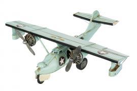 Dekorasjon fly Lysblått metall 60x45x19cm , hemmetshjarta.no