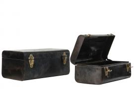 Uke 33 Koffert Metal Vintage 44x27x21cm 2-pak , hemmetshjarta.no