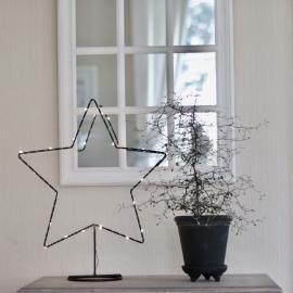 Batteri LED Stjerne med lyslenke , hemmetshjarta.no
