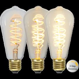 LED-Lampe E27 Decoled Spiral Clear ST64 Dim 3-step , hemmetshjarta.no