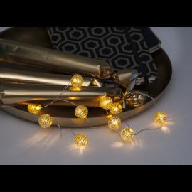 Lyslenke Dew Drop Batteridrevet Varmhvit 10 lys 90cm , hemmetshjarta.no