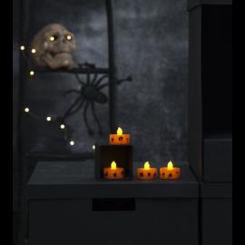 LED Telys 4-pakning Halloween , hemmetshjarta.no