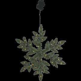 Kunstig Krans Snowflake Batteridrevet Utendørs 36 Lys 50cm , hemmetshjarta.no