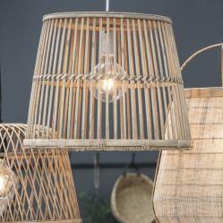 Taklampe med bambusskjerm 34 cm , hemmetshjarta.no